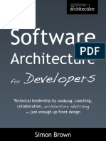 Software Architecture for Developers by Simon Brown