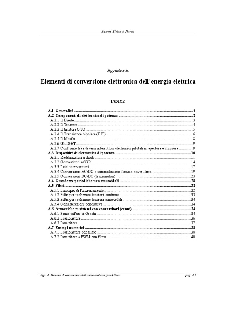 Schemi Elettrici Navali : Sistemi elettrici navali