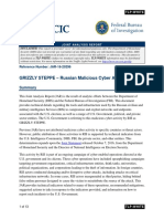 Joint Analysis Report (JAR) on Russian Hacking
