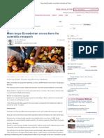 Mars Buys Ecuador Cocoa Farm Hacienda La Chola
