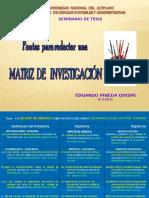 3  PAUTAS PARA REDACTAR UNA MATRIZ DE INVESTIGACION.ppt