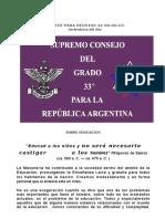 Ponencia del S.C.Grado 33º de Argentina
