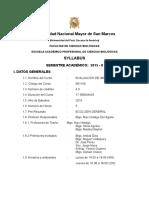 Silabo EIA B01100 2015-II EAP CC Biológicas Prof. Max Hidalgo