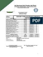 Informe Final Revista INFISMAT-2012