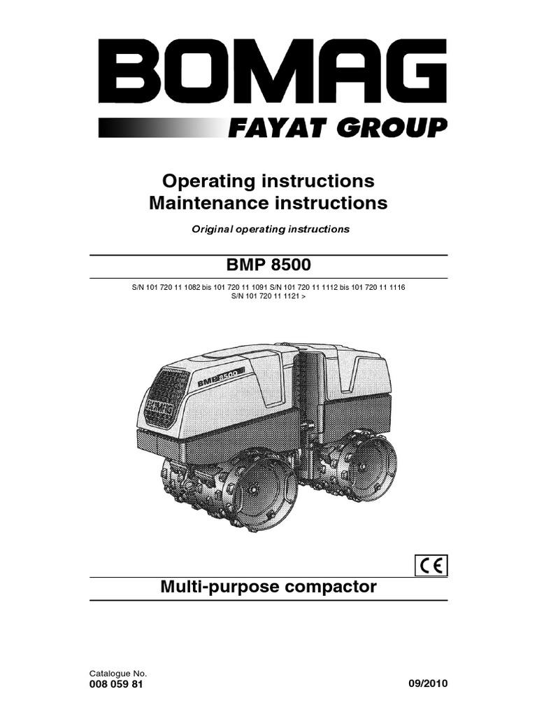 bomag roller bmp 8500 brugervejledning eng switch safety rh scribd com bomag bw 80 wiring diagram bomag wiring diagram