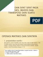 Operasi Dan Sifat Sifat Pada Matriks, Invers
