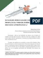 Igualdade, desigualdade e metodos de produção da verdade jurídica - uma discussão antropológica (Roberto Kant de Lima).pdf