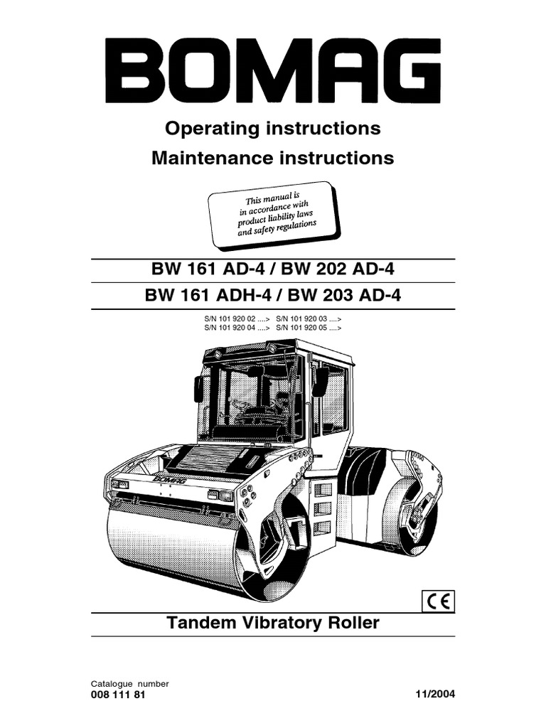 Bomag 66 Manual Stiga Comfort 16 2010 Parts Diagram Engine Briggs Stratton Array Roller Bw202ad 4 Operation Switch Screw Rh Es Scribd