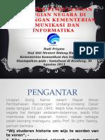 Tata Cara Penyelesaian Kerugian Negara Di Lingkungan Kementerian Kominfo (Budi Priyono)