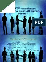Developing as an HR Business Partner