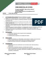Informe Tutoria Isemestre 2015