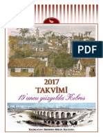 2017 Calendar - 19th century Cyprus (Turkish)