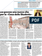 Università di Urbino protagonista nell'internazionalizzazione / Inaugurazione Centro di Semiotica / Nuova Casa dello Studente - Il Resto del Carlino del 22 giugno 2010