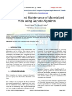 Selection and Maintenance of Materialized View using Genetic Algorithm