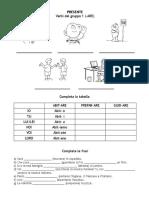 Presente indicativo regolare - prima coniugazione