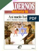 Cuadernos de Historia 16 047 Asi Nacio Israel