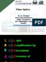 Lasers and optical fiber Dr. D. Dinakar.pptx
