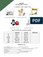 Presente indicativo regolare - terza coniugazione -ISC-