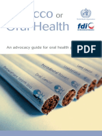 Oral Health Tobacco Fdi Book