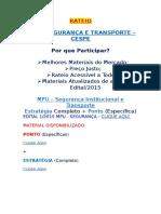 Rateio Mpu Segurança e Transporte - Cespe2015