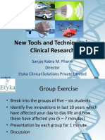 New Tools and Techniques in Clinical Research - Copy