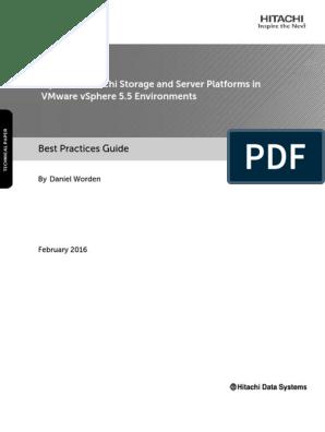 Optimize Hitachi Storage and Server Platforms in Vmware Vsphere 5 5
