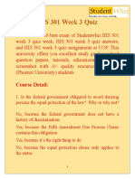 Studentwhiz, HIS 301 Assignments & HIS 301 Week 3 Quiz