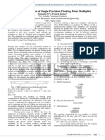Implementation of Single Precision Floating Point Multiplier on FPGA