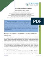 41. Agri Sci - Ijasr-Development and Evaluation of Osmotic Dehydrated Jack Fruit Crisps