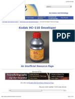 Kodak HC-110 Developer - Unofficial Resource Page