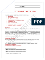 The Constitional Law of India (Final) notes