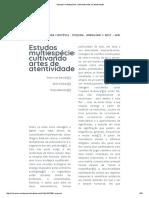 Estudos Multiespécies (Dooren, Kirskey, Munster)
