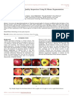 A Survey on Fruit Quality Inspection Using K-Means Segmentation