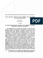 1966 - Fritz Pinkuss Quatro Milênios de Existência Judaica. Uma Resumida História Geral Israelita, Dos Primórdios Aos Nossos Dias (III)