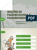 Aula 06 - Paleoecologia e Paleobiogeografia