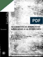 Alvarez Lopez Alberto - Matematicas Avanzadas Aplicadas a La Economia