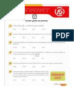 Matemáticas y Olimpiadas- 5to de Primaria Conamat 2013 Lima