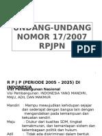 Undang-undang Nomor 17 - 2007