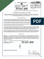 Santos prihibeporte de armas durante todo el 2017