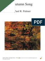 Autumn Song - Paul R. Palmer