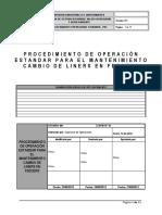 POE-002-001 Cambio de Liners en Feeder