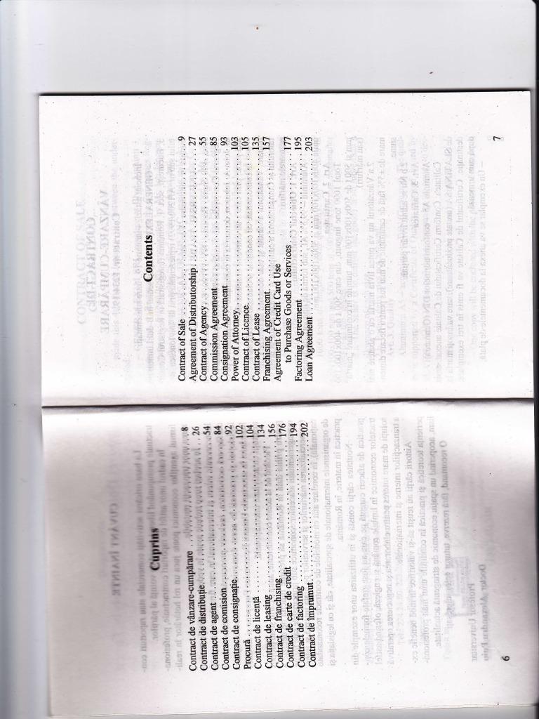 Modele de Contracte de Afaceri in Romana Si Engleza