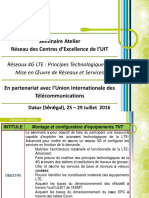 Esmt Pesentation Seminaire 4g Lte Juillet 2016