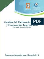 Gestion Del Patrimonio Cultural y Cooperacion Internacional