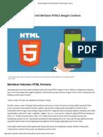 Membuat Aplikasi Android Berbasis HTML5 Dengan Cordova_1