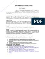 Reglamento de Seguridad y Salud Del Ecuador