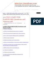 100 Top Computer Hardware Questions and Answers PDF Computer Hardware Questions PDF