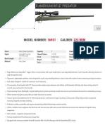 Ruger American Rifle Predator Vortex Scope Package