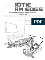 Robotic Arm Edge With USB PC Interface User's Manual