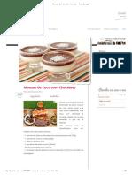 Mousse de Coco Com Chocolate – Panelaterapia